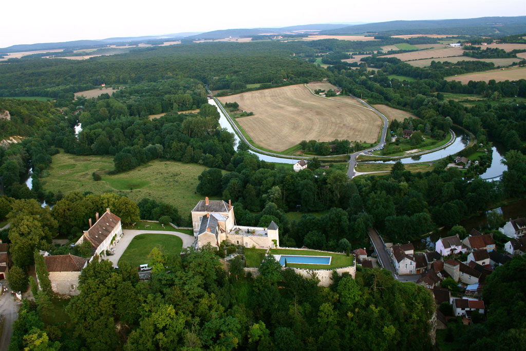 Chateau de Mailly aerial view