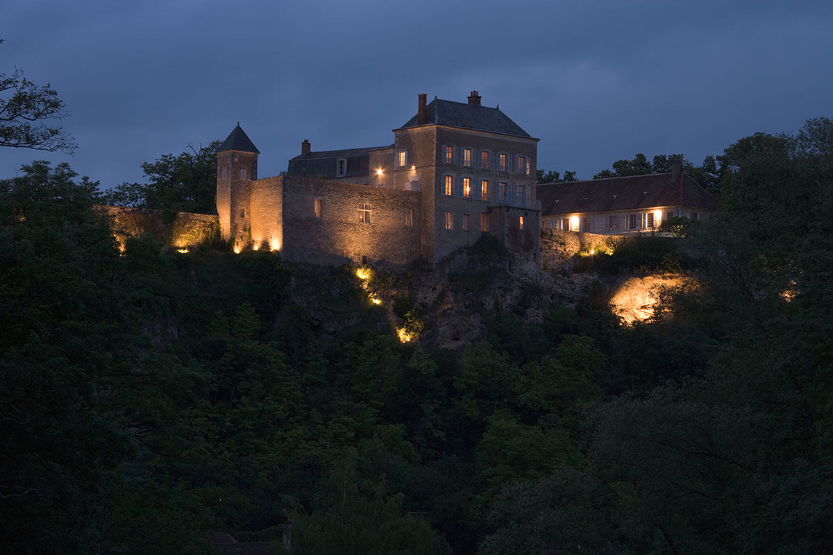 chateau de mailly exterior evening view